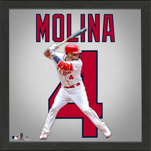 Yadier Molina Impact Jersey Framed Photo