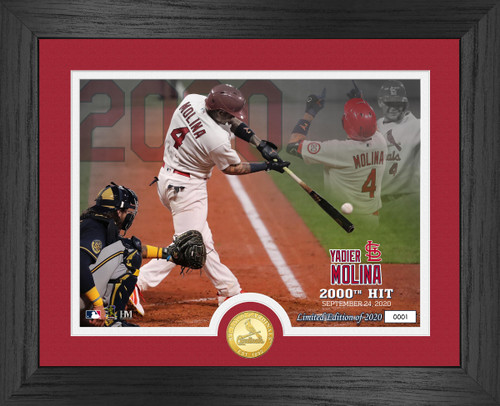 Yadier Molina 2000th Hit Bronze Coin Photo Mint