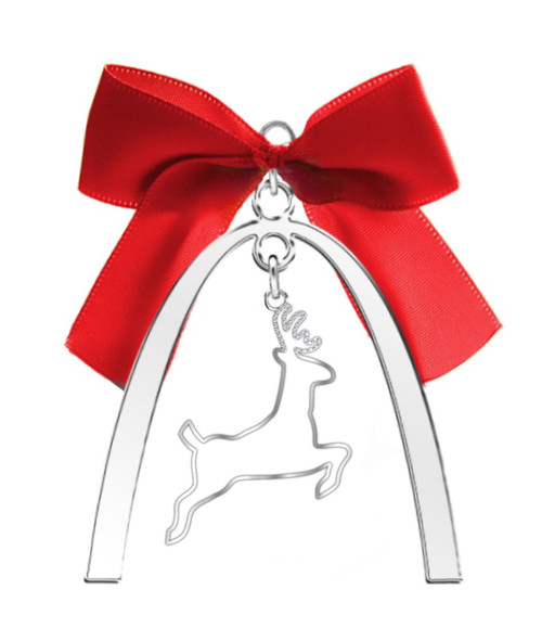 """""""Only in St. Louis"""" Holiday Ornaments - Arch with Reindeer"""
