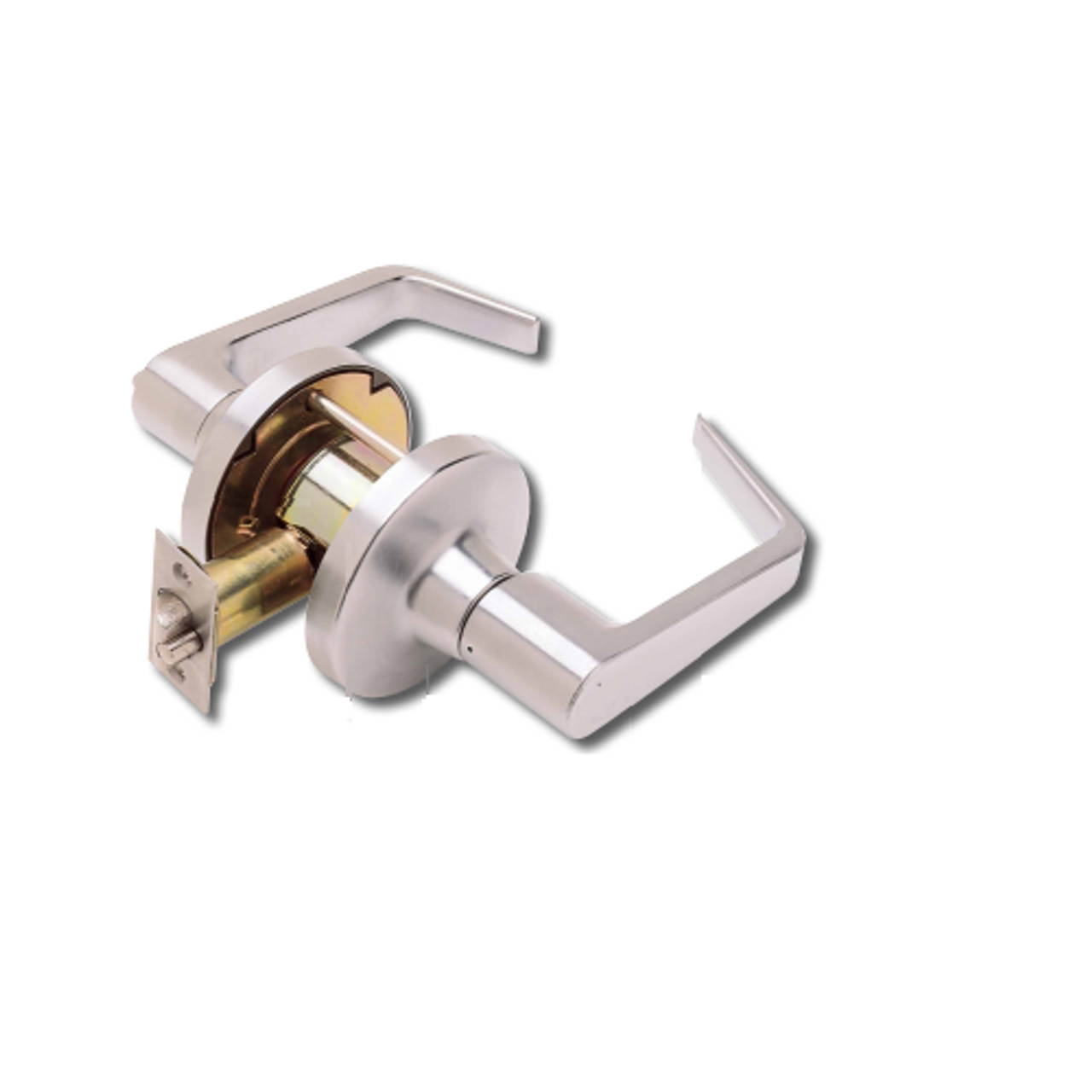 Pack of 1 1-3//4 to 2 Door Thickness Sargent 10-Line Satin Chrome Grade 1 Privacy//Bathroom Cylindrical Lock with Heavy Wrought Rose and Solid Cast Lever