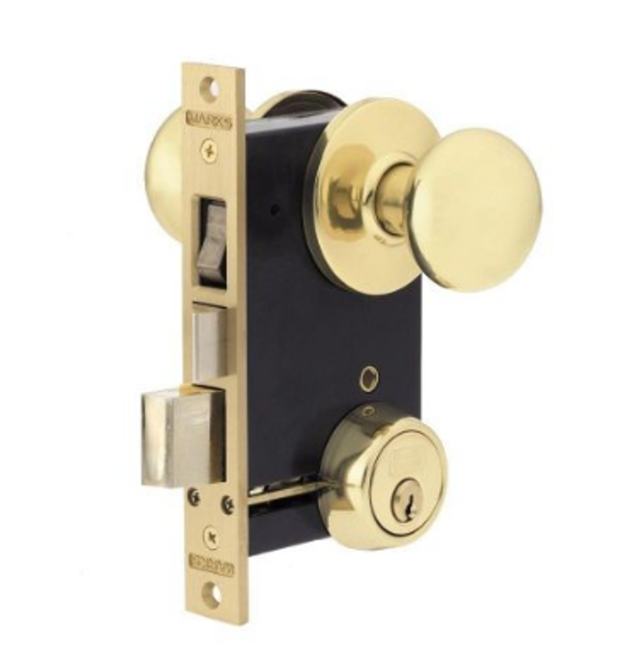 Picture of: Marks Usa Ornamental Iron Mortise Lockset 22ac
