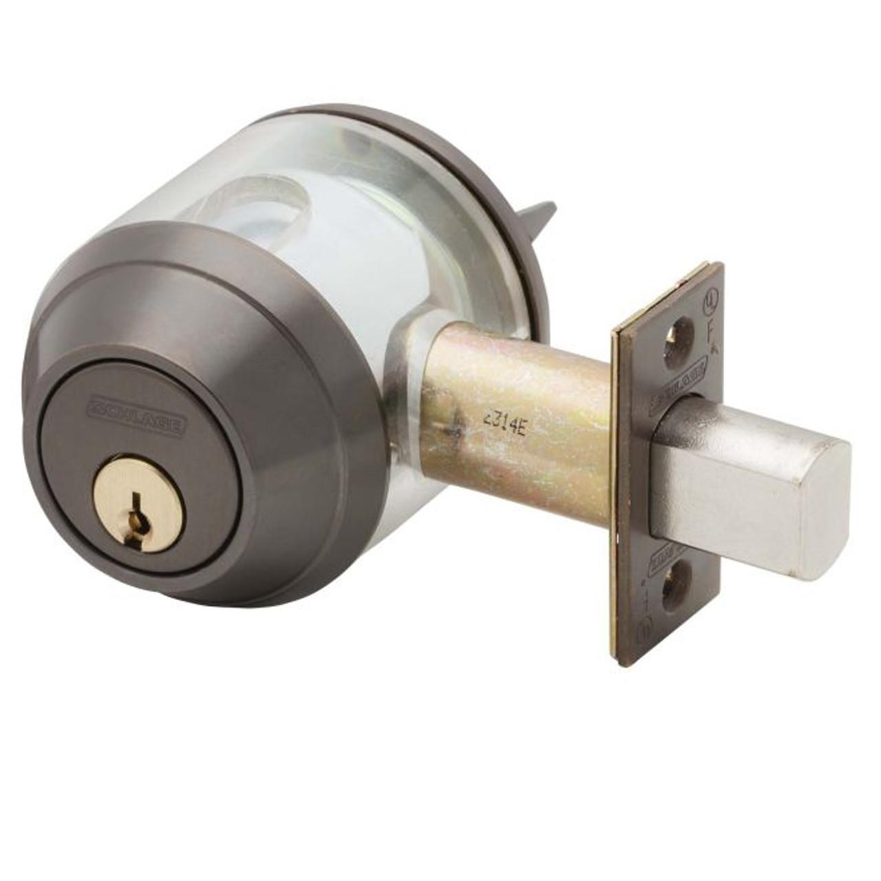Schlage Double Cylinder deadbolt Lock B662J 643e Aged Bronze