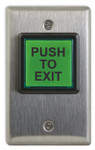 Camden CM-30E Square Illuminated Push to Exit Button