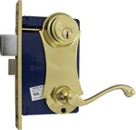Marks - Ornament Unilock Lever/Plate Mortise Lockset 9215AC/3