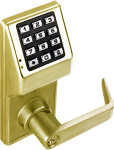 Alarm Lock DL2700-WP-05 Trilogy T2 Push button Lock Weather Proof Satin Brass