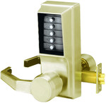 Kaba Access Simplex LL1011-05-41 Left Hand Unican Pushbutton Lock Satin Brass