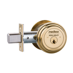 "Medeco M3 11TR604 2-3/4"" Backset Maxum Residential Single Cylinder Deadbolt Bright Brass"