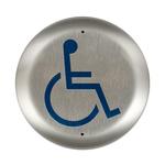"Bea 10PBR45LL 4.5"" Handicap Round Push Plate"