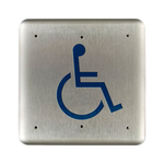 "Bea 10PBSLL 4.75"" Handicap Square Push Plate"