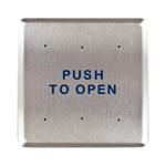 "Bea 10PBS6 6"" Push To Open Square Push Plate"