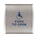 "Bea 10PBS61 6"" Handicap Push To Open Square Push Plate"