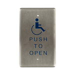 Bea 10PBO241 Handicap Push To Open Single Gang Push Plate
