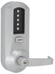 Kaba Simplex 5021XSWL-26D-41 Mechanical Pushbutton Lever Lock W/ Key Override