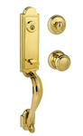 Baldwin 180AEHXATKRDBL03SV1 Single Cylinder Lock Set Bright Brass