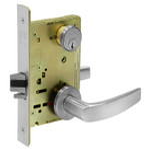 Sargent 8205 LNB 26D Office/Entry Mortise Lock LN Rose B Lever