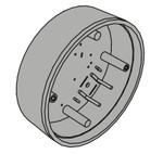 LCN / Falcon 8310-869S Box Surface Mount 6 In. Round