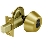 "Sargent 60-485 3 Bright Brass Single Cylinder Deadbolt 2-3/4"" Backset LFIC Prep"