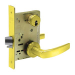 Sargent 60-8204 LNB 3 Storeroom/Closet Mortise Lock LN Rose B Lever LFIC Prep Less Core