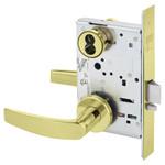 Sargent 60-8204 LNB 3 Storeroom/Closet Mortise Lock LN Rose B Lever LFIC Prep Less Core