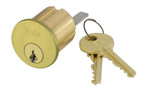Yale 1109 6 GA 606 0 BITTED Rim Cylinder 6-Pin GA Keyway 0-Bitted