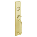 PHI M1715A 605 Apex and Olympian Series Wide Stile Trim Thumb Piece Always Active A Design Pull Requires 1-1/4 In. Mortise Type Cylinder
