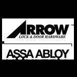 Arrow BM01 VH 26D Passage Mortise Lock V Lever H Escutcheon