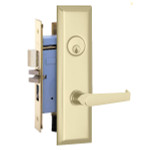 Marks Lock 9NY92-X New Yorker Lever Plate Design For Apartment Entrance and Vestibule Door