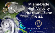 Marks USA Locks Earn Miami-Dade County Florida NOA Component Approval