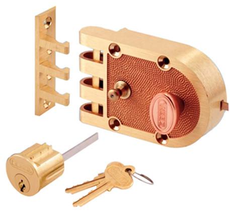 Segal - Single Cylinder Jimmy Proof Interlocking Slam Lock Deadbolt