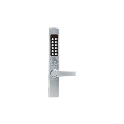 Kaba E-Plex E3000 Series E3065MSNL-626-41 Mortise Deadlatch - Narrow Stile Lever Electronic Lock