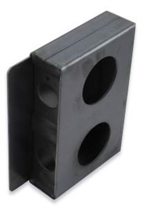 KEEDEX K-BXSGL Double Weldable Lock Box for Cylindrical Locks