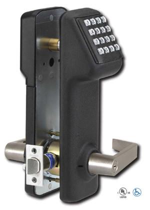 Marks USA IQ1 LITE i-QWIK LITE Stand Alone Cylindrical Lockset Electronic Access Control Black