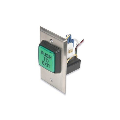 """Camden CM-30EE 2"""" Square Illuminated Push/Exit Switch, with electronic timer"""