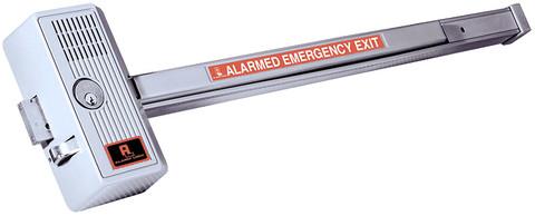 """Alarm Lock 710x28 Sirenlock 33"""" Push Bar Rim Exit Device"""