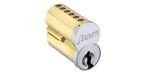 Arrow SFIC CORE 7PIN 2CH 1CO 626 Keyed With Control Key Satin Chrome