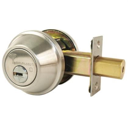 Mul-T-Lock Junior 008J-MD1-32D Single Cylinder Deadbolt Satin Stainless Steel