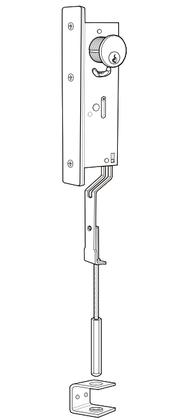 Adams Rite 1870-20-628 Flush Bolts 12 Length