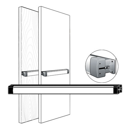 Adams Rite 3700 Series Fire Rated Rim Exit Device