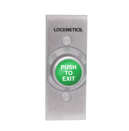 Locknetics by Schlage 621GR-EX-NS-DA Heavy Duty Exit Pushbutton