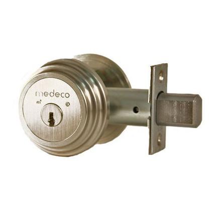 """Medeco M3 11TR503 2-3/8"""" Backset Maxum Residential Single Cylinder Deadbolt Satin Nickel"""