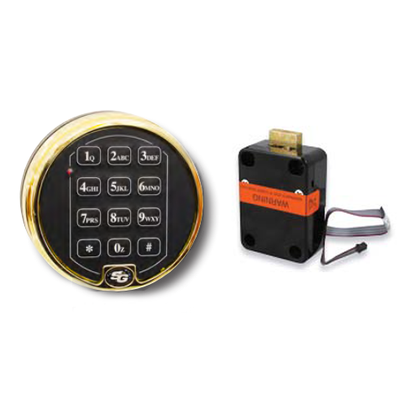 Sargent and Greenleaf 6120-301 Electronic Safe Lock w/ Keypad Buffed Brass