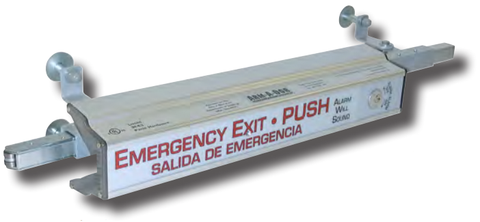 Arm-A-Dor A101-F02 Fire Rated Alarmed  Maximum Security Panic Exit Hardware