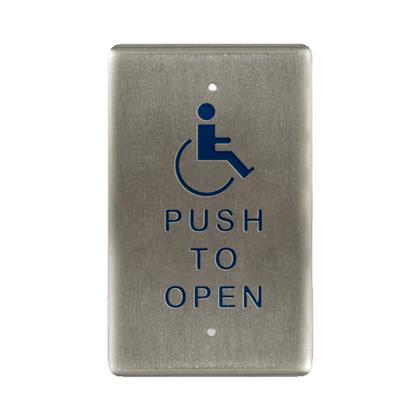 Bea 10PBO241 Handicap Push To Open Single Gang Push Plate