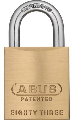 Abus 83/45-300 Brass Rekeyable Padlock Schlage SC1 Keyway
