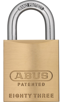 Abus 83/45-100 Brass Rekeyable Padlock Yale Y1 Keyway