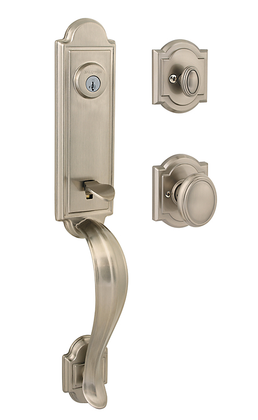 Baldwin 180AEHXCYKARB15SV1 Single Cylinder Lockset Satin Nickel Finish