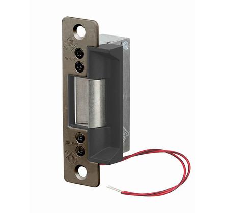 Adams Rite 7100-310-335 Flat Face 12VDC Fail Secure Black Electric Strike