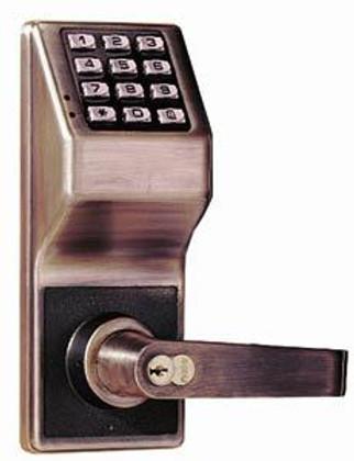 Alarm Lock DL2700IC US10B Pushbutton Cylindrical Door Lock SFIC Prep Less Core
