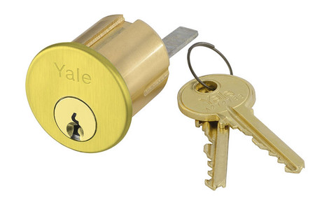 Yale 1109 6 TF 605 0 BITTED Rim Cylinder 6-Pin TF Keyway 0-bitted