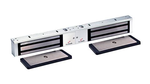 DynaLock 2022 DSM2 US3 Maglock Double Electromagnetic Lock Outswing Door Status Monitor 12/24VAC/DC Bright Brass